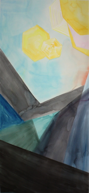 "22x48"", Watercolor, Pencil, on Paper, 2015, Isabel Rucker"