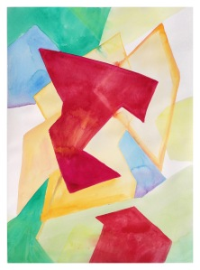 """Untitled, Gouache on Arches Paper, 2016, 26"""" x 19"""""""
