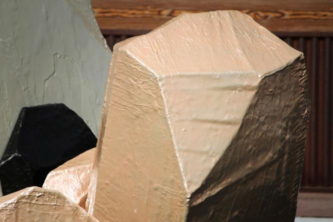 8x5x5', Polystyrene, Fiberglass, Epoxy, Enamel, Steel, 2015, Isabel Rucker