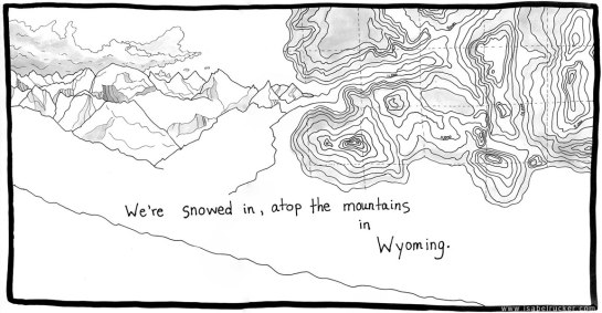 """Unfurling"", panel 91 of 177, Wyoming mountaintops"