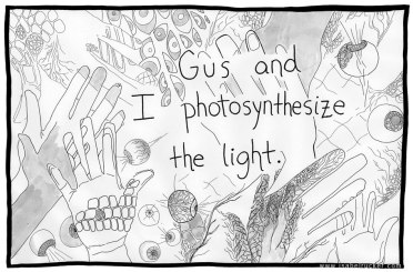 """Unfurling"", panel 175 of 177, photosynthesizing the light"