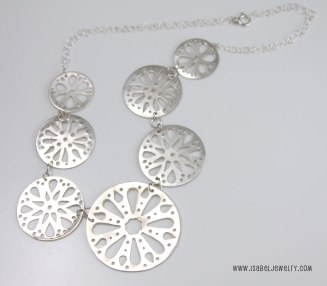 """Rose Windows"", sterling silver necklace."